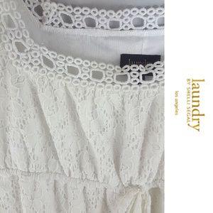 Laundry by Shelli Segal White Eyelet Dress